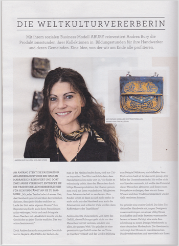 HESSNATUR MAGAZINE SEPTEMBER 16 ANDREA BURY BERBER BAGS