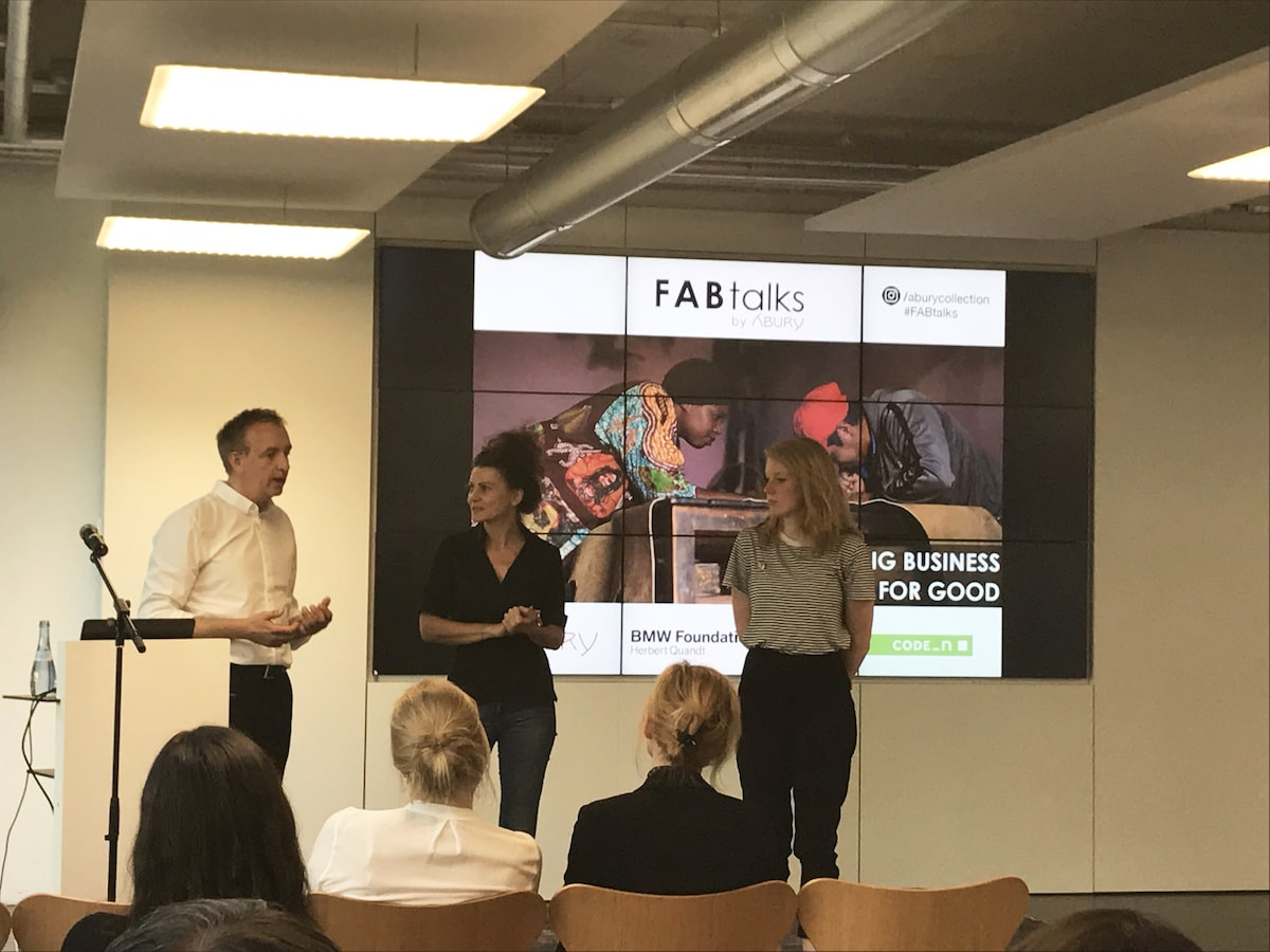 picture of the three speakers during fabtalks 23