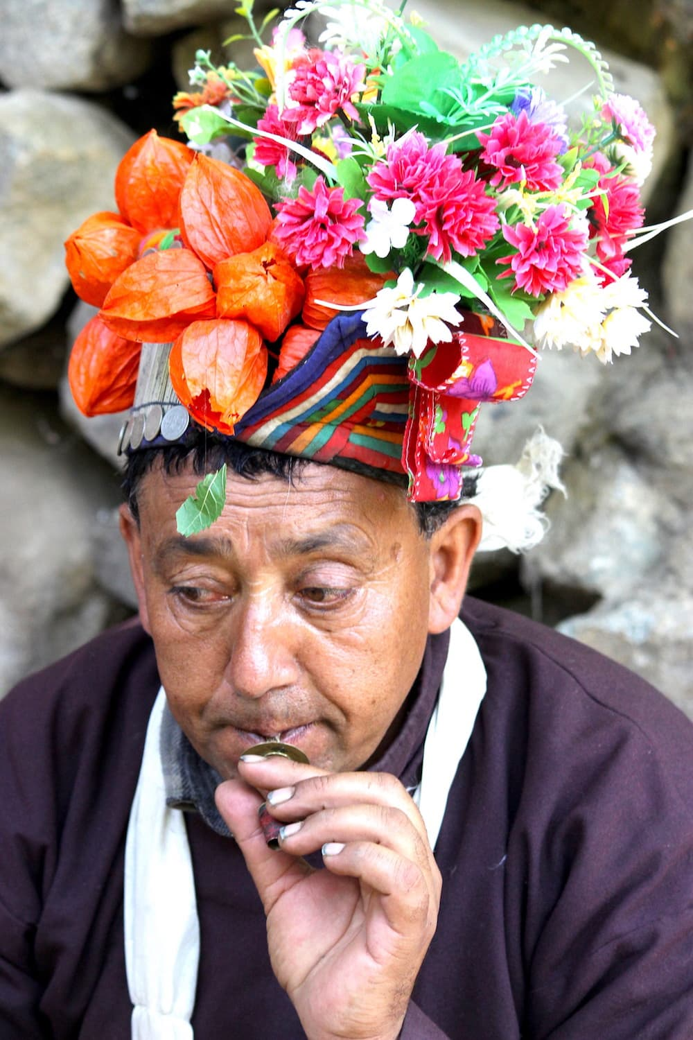 ladakh flower ornament india
