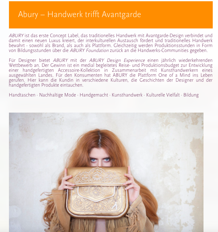 ABURY Berber Bags featured in 5 Sustainable Christmas Gift Ideas on Uberdentellerand Blog