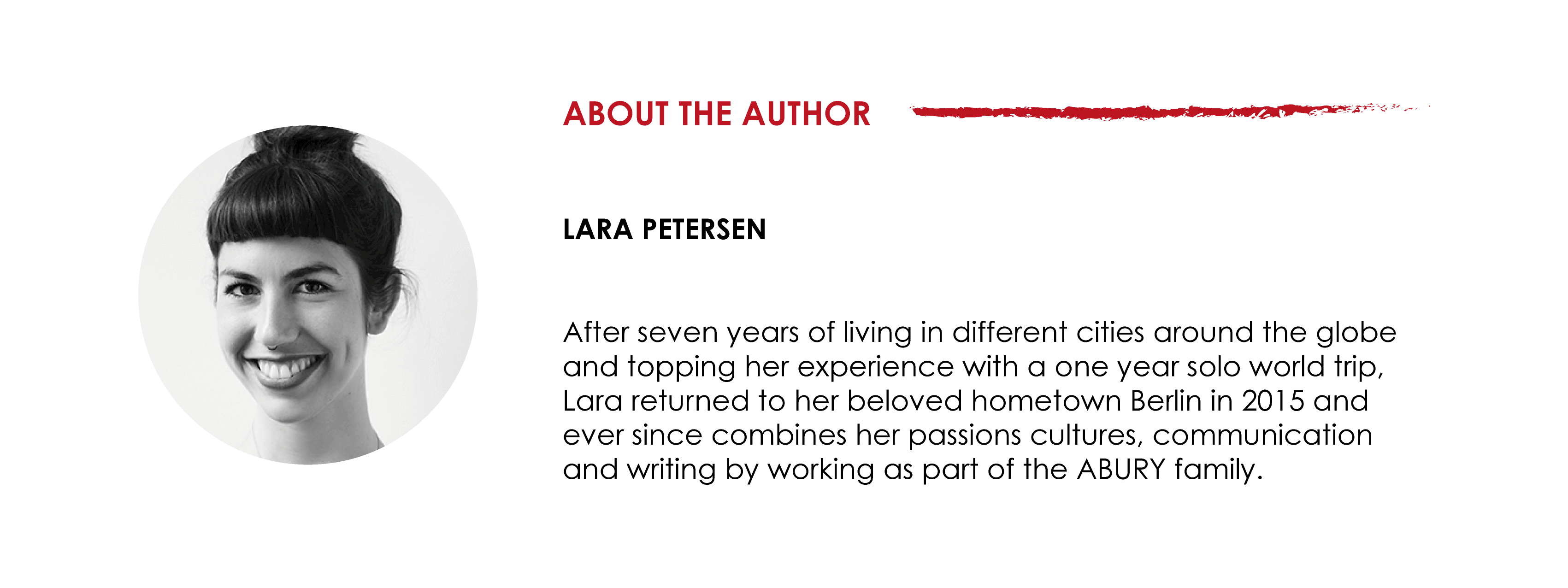 description author lara petersen