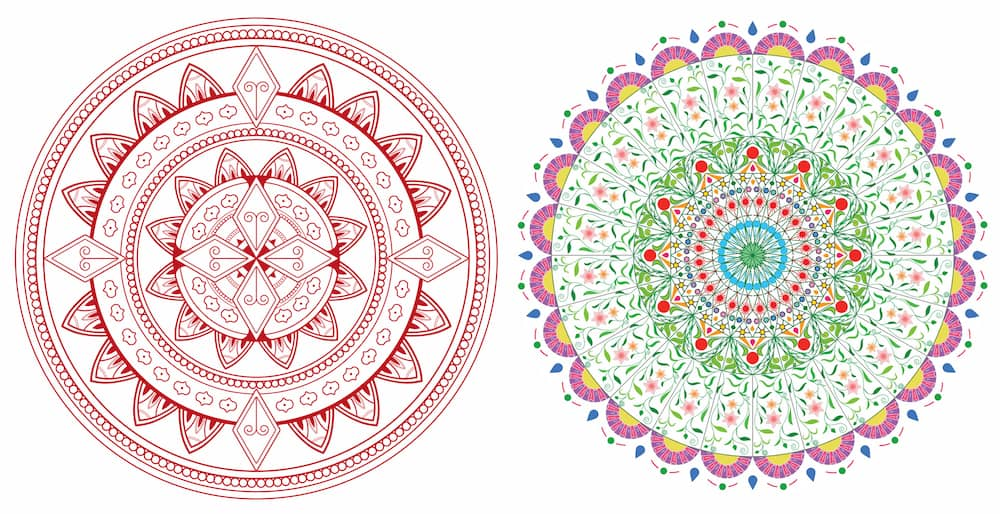 mandala colorful drawings