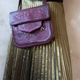 Embroidered Leather Berber Bag in Mauve *limited edition*