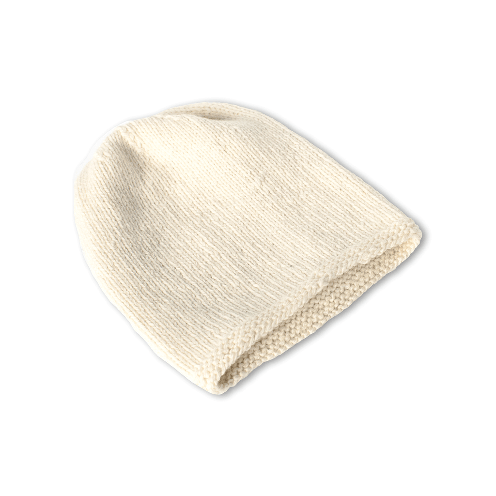 Ivory Alpaca Beanie - handmade Accessories from Alpaca Wool - ABURY Collection Ecuador