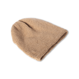 Sand Alpaca Wool Beanie - Winter and Autumn Accessories - ABURY Collection Ecuador handmade