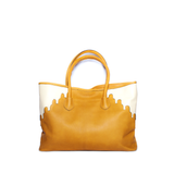 Rabbia Camel Leather Tote Bag back view