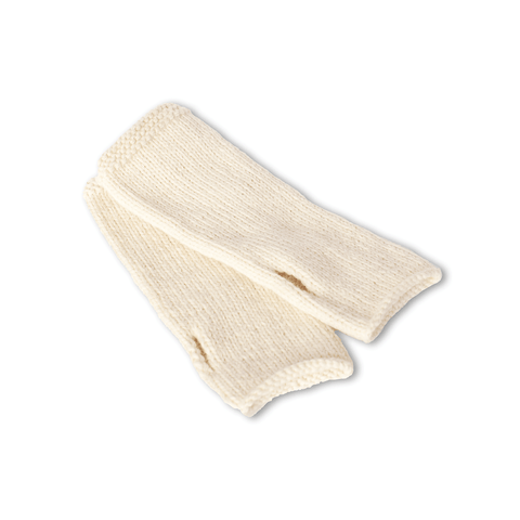 Wool Accessories Set (Beanie & Fingerless Gloves) in Ivory