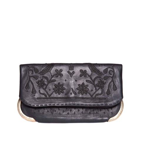 Lovebirds Evening Clutch Bag in Silver