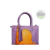 Asmaa Purple Leather Mini Bag