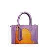 front view abury asmaa purple leather mini bag