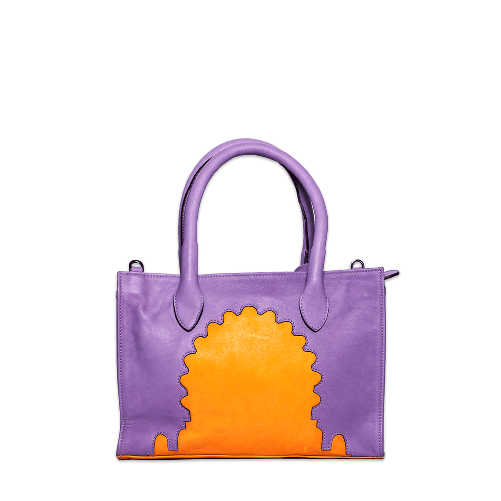 Asmaa Purple Leather Mini Bag back view