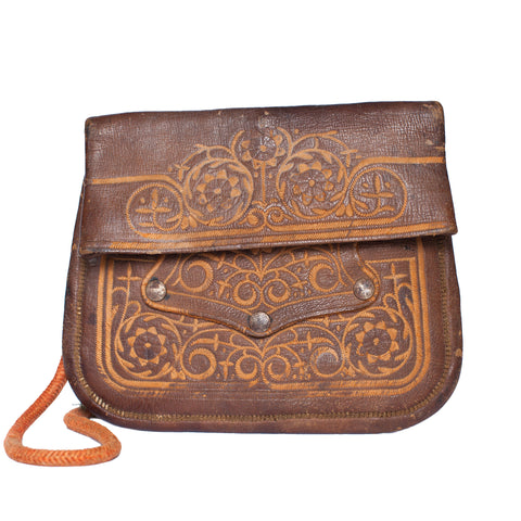 Vintage Leather Shoulder Bag JALILA