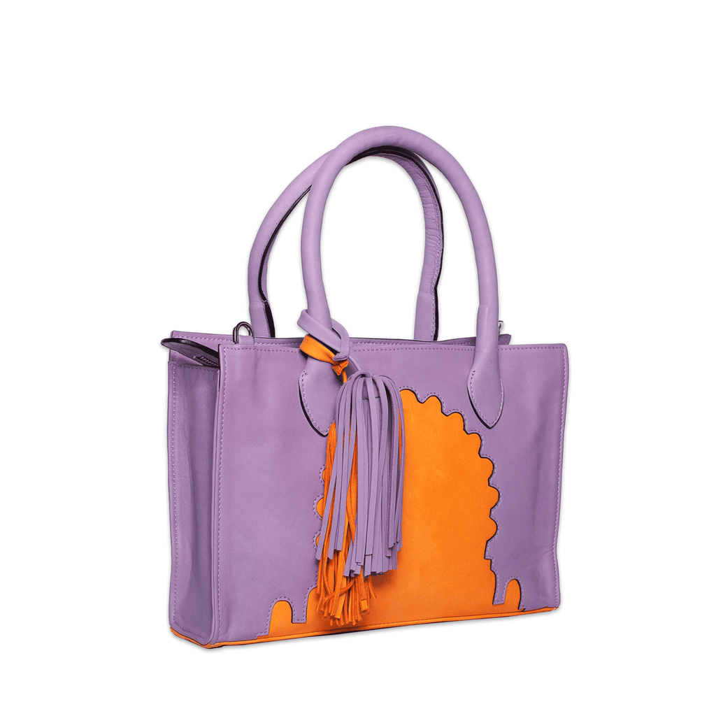 Asmaa Purple Leather Mini Bag side view