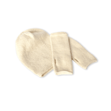 Ivory Beanie and Finger-less Alpaca Gloves Set - Winter and Autumn Accessories - ABURY Collection Ecuador