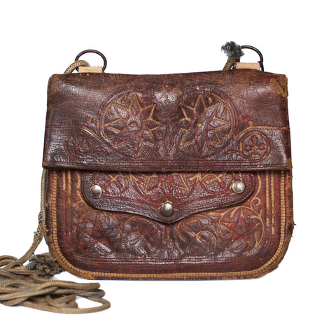 Vintage Leather Shoulder Bag SAHAR