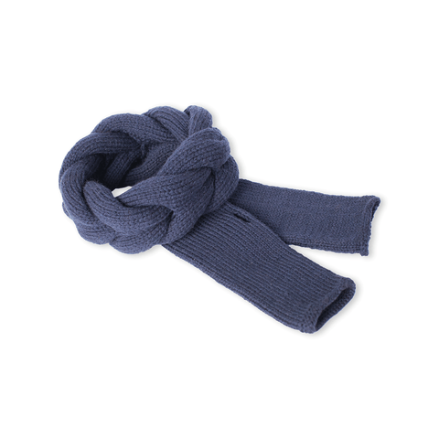 Navy Blue Alpaca Wool Headband