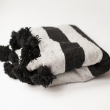 Black and Grey Wool Throw Blanket - Throws - ABURY Collection