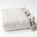 Grey Wool Throw - Throws - ABURY Collection