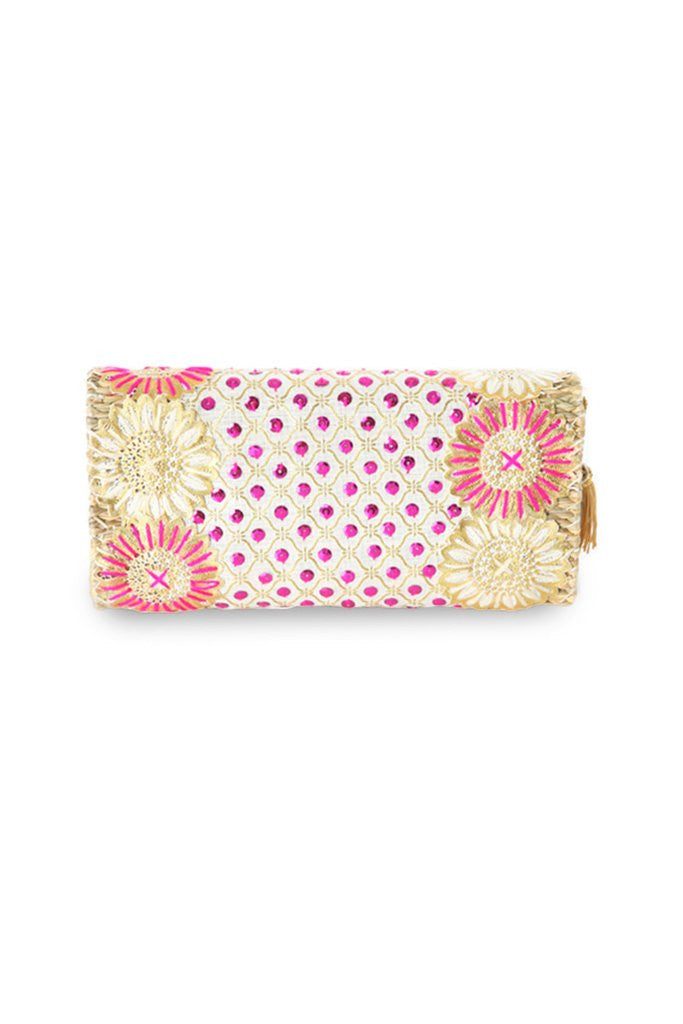 Rumor Embroidered Straw Clutch Bag | ABURY Collection - Clutch Bag - ABURY Collection