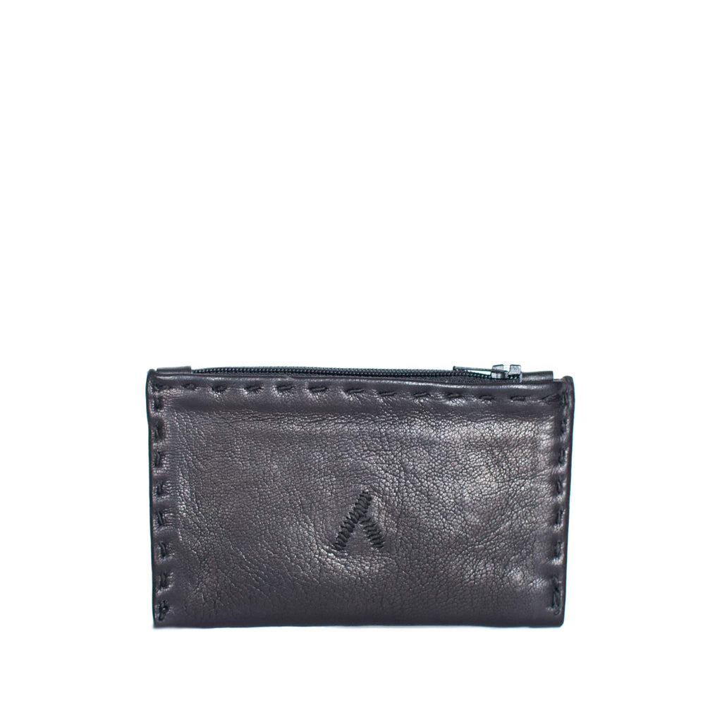 back view ABURY BLACK EMBROIDERED COIN WALLET