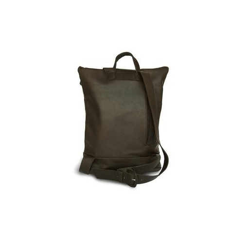 Brown Leather Backpack for men packshot back