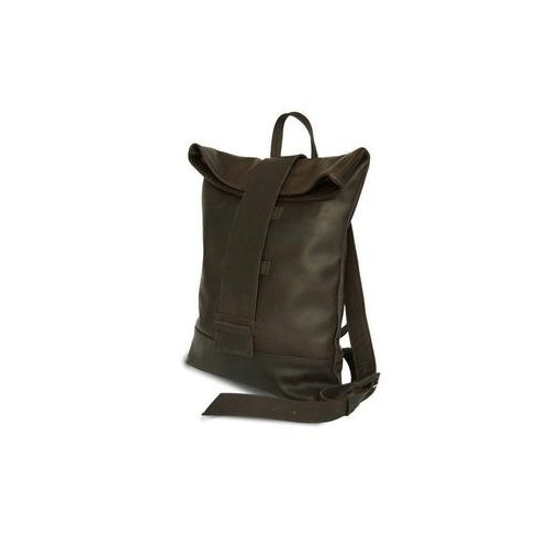 Brown Leather Backpack for men packshot side