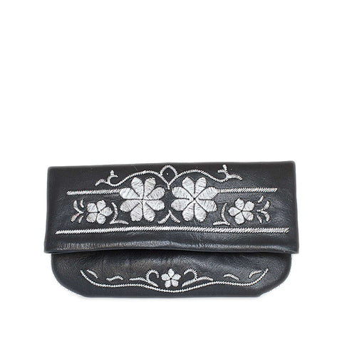 Lovebirds Evening Clutch Bag in Black