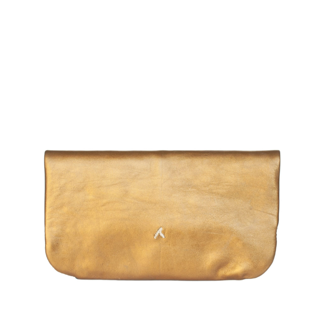Floral Evening Clutch Bag in Bronze, Beige
