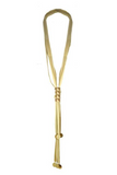 fiona paxton hanae leather necklace gold