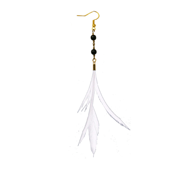 Lana Feather Earrings - Cream