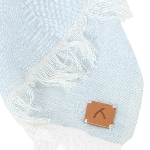 Light Blue 100% Cotton Scarf - Scarves - ABURY Collection