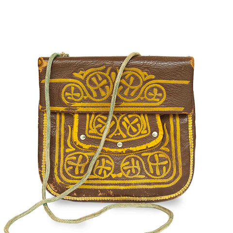 Embroidered Mini Crossbody Bag Khaki