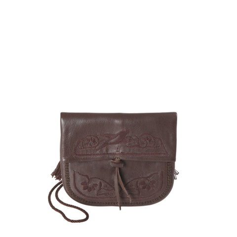 Straw and Leather Canteen Bag Ivan