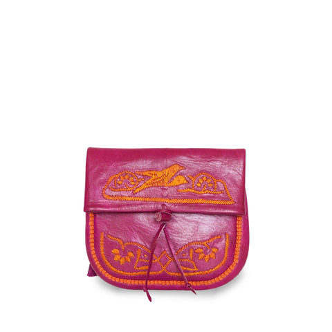 Embroidered Mini Crossbody Bag in Yellow, Rosé