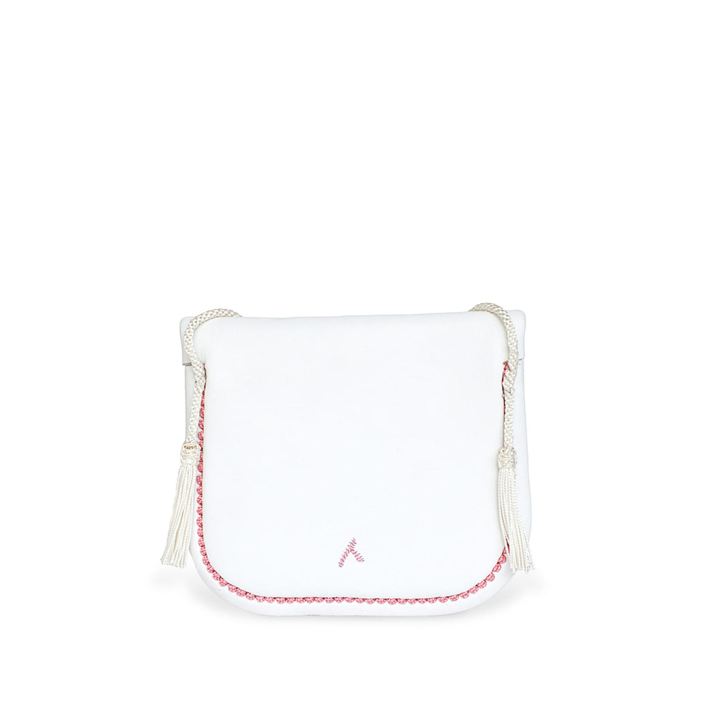 White and Rosé Leather Mini Berber Bag