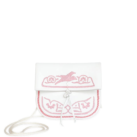 Salam Peace Evening Clutch Bag in Pink, Rosé