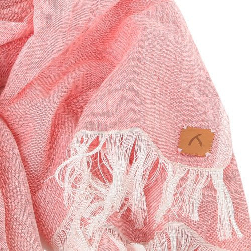 Pink 100% Cotton Scarf - Scarves - ABURY Collection