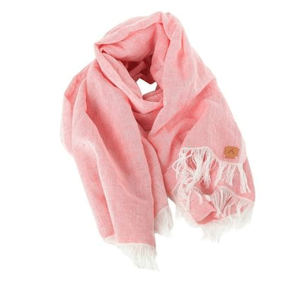 Pink 100% Cotton Scarf