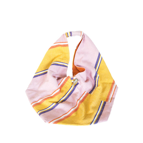 Cotton Beach Towel in Mustard Yellow, Off White