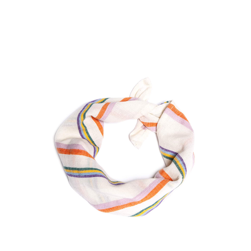ABURY Colourful striped cotton bandana