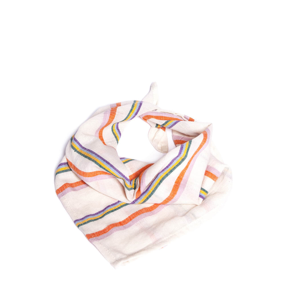 Colourful striped cotton bandana