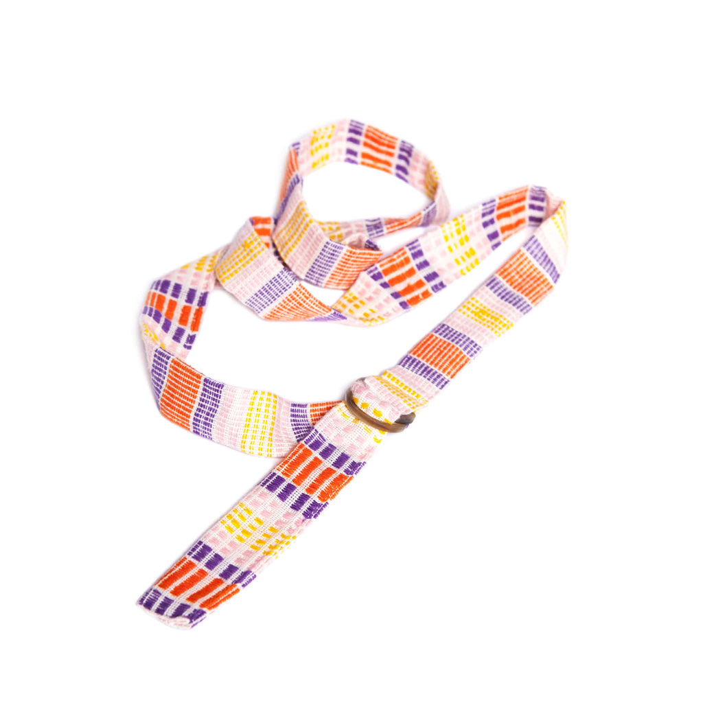 ABURY colourful striped cotton belt