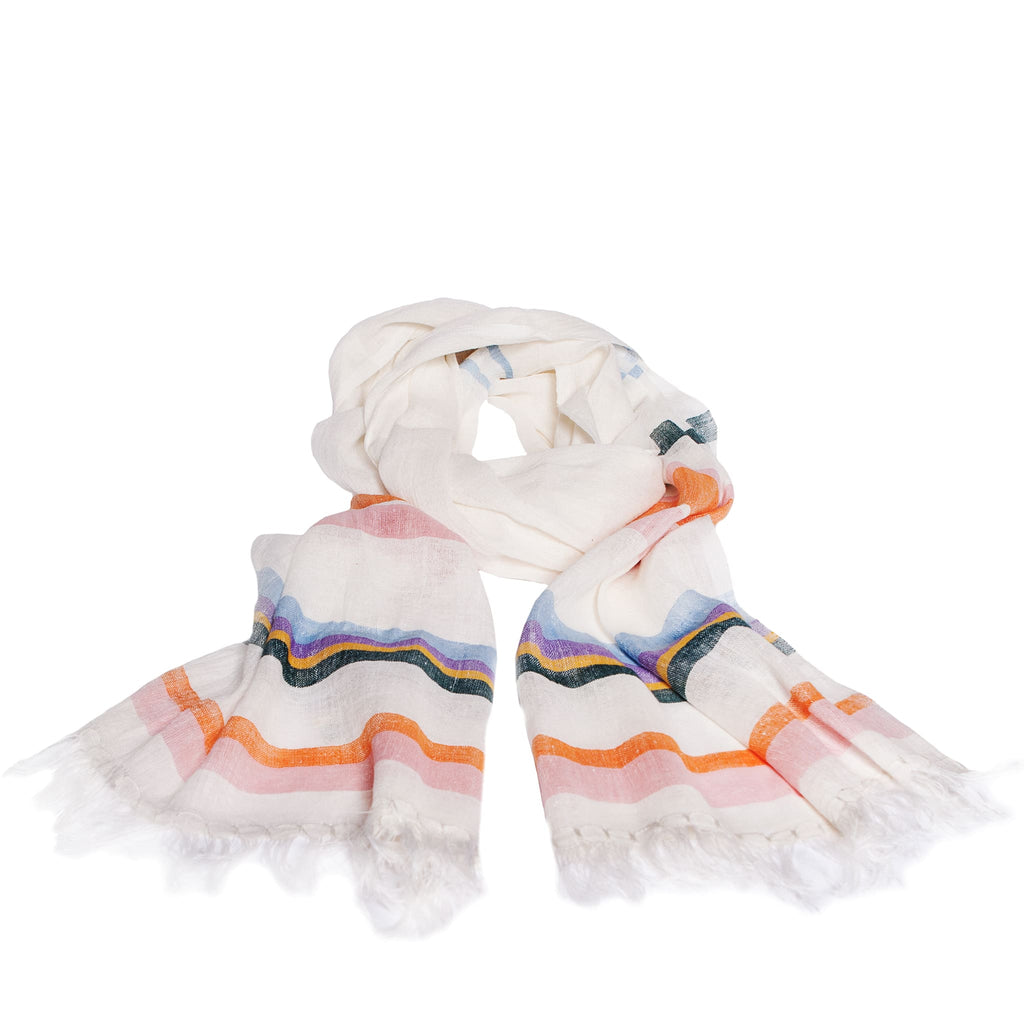 ABURY colouful cotton extra-long light summer scarf