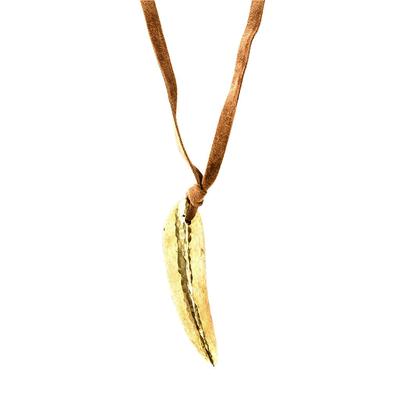 adele dejak sade brass pendant - golden jewellery from Kenya