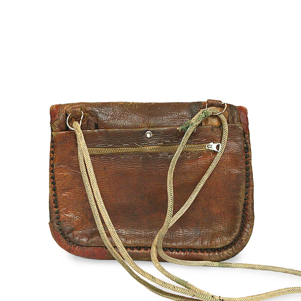 Vintage Leather Berber Bag Sahar