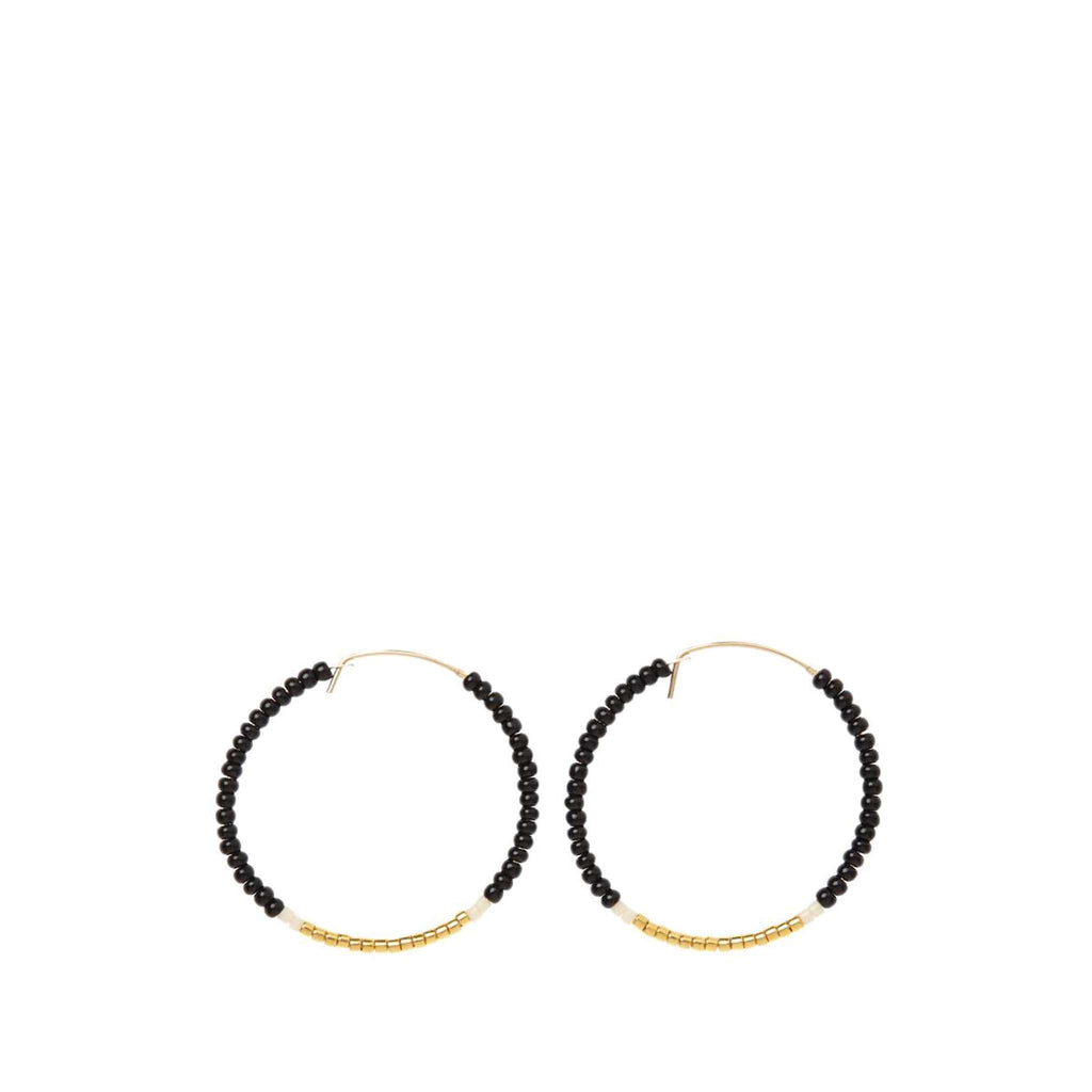 Small Hoop Earrings by Sidai Designs - Black and Gold colour jewellery from Tanzania