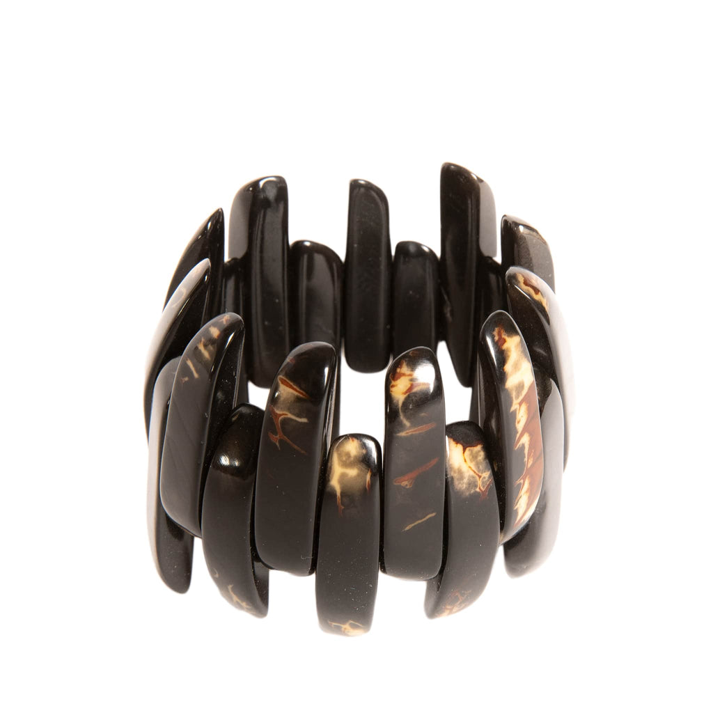 Handmade Amazon Tagua Bracelet in Black Grain