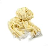 abury yellow 100% cotton scarf from Morocco - ABURY sustainable fashion