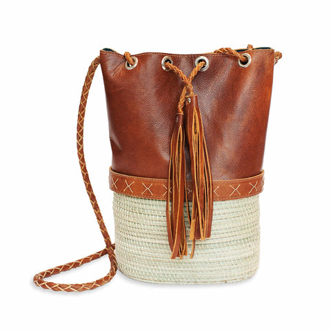 Brown Leather Mini Berber Bag