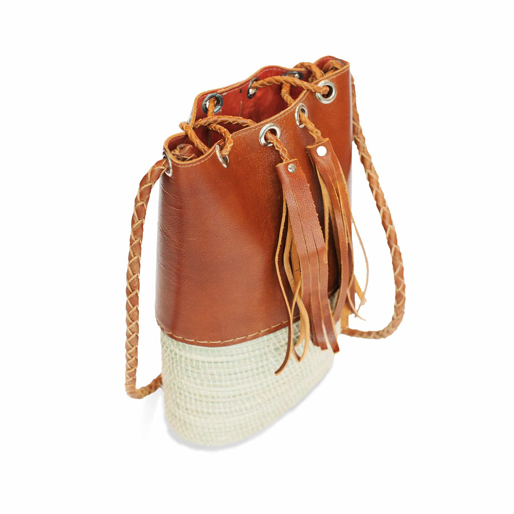 Leather Bucket Bag Angelina - Bucket Bags - ABURY Collection